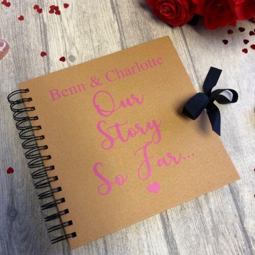 Our Story so Far. Keepake Memory Love PERSONALISED SCRAPBOOK VALENTINES GIFT