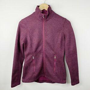 Spyder Womens Small Endure Core Stryke Zip Up Fleece Jacket Fini Purple