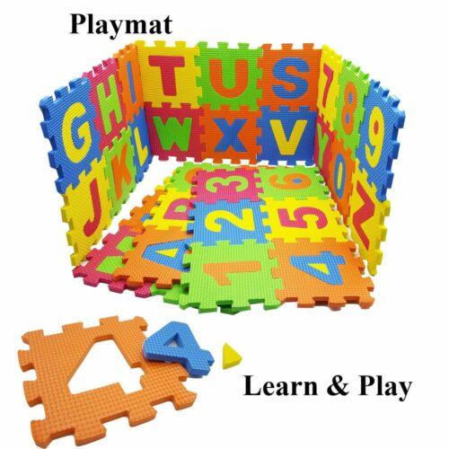 NEW 36 PCS PLAY MAT ALPHABET//NUMBER KIDS CHILDREN SOFT EVA FOAM JIGSAW PUZZLE