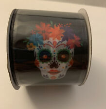 """Katherine/'s Collection Day Of The Dead Ribbon 4/"""" x 5 Yd Halloween 30-930237 NEW"""