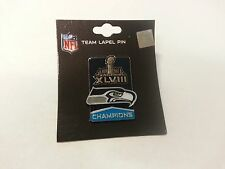 Official Lapel Pin NFL 2014 Super Bowl XLVIII 48 Champions Seattle Seahawks