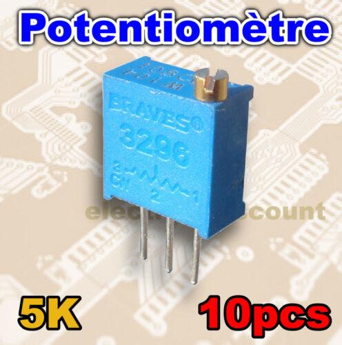 1526-5K//10# Potentiomètre multi-tours 5K ohms 10pcs