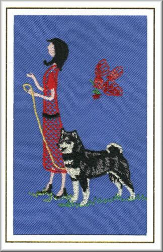 Shiba Inu Birthday Card or Notecard Embroidered by Dogmania