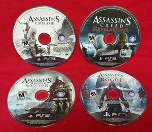 Assassin-039-s-Creed-III-Rogue-Revelations-Black-Flag-Lot-Sony-PlayStation-3-PS3