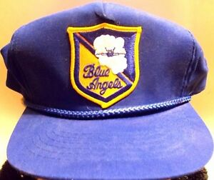 e43e3bf3c40 Image is loading Vintage-Blue-Angels-Blue-Young-An-Hat-Co-