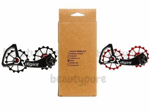 Digirit Road Bike for Sram Red//Force//Rival//Apex Oversize Pulley Wheel Kit NIB