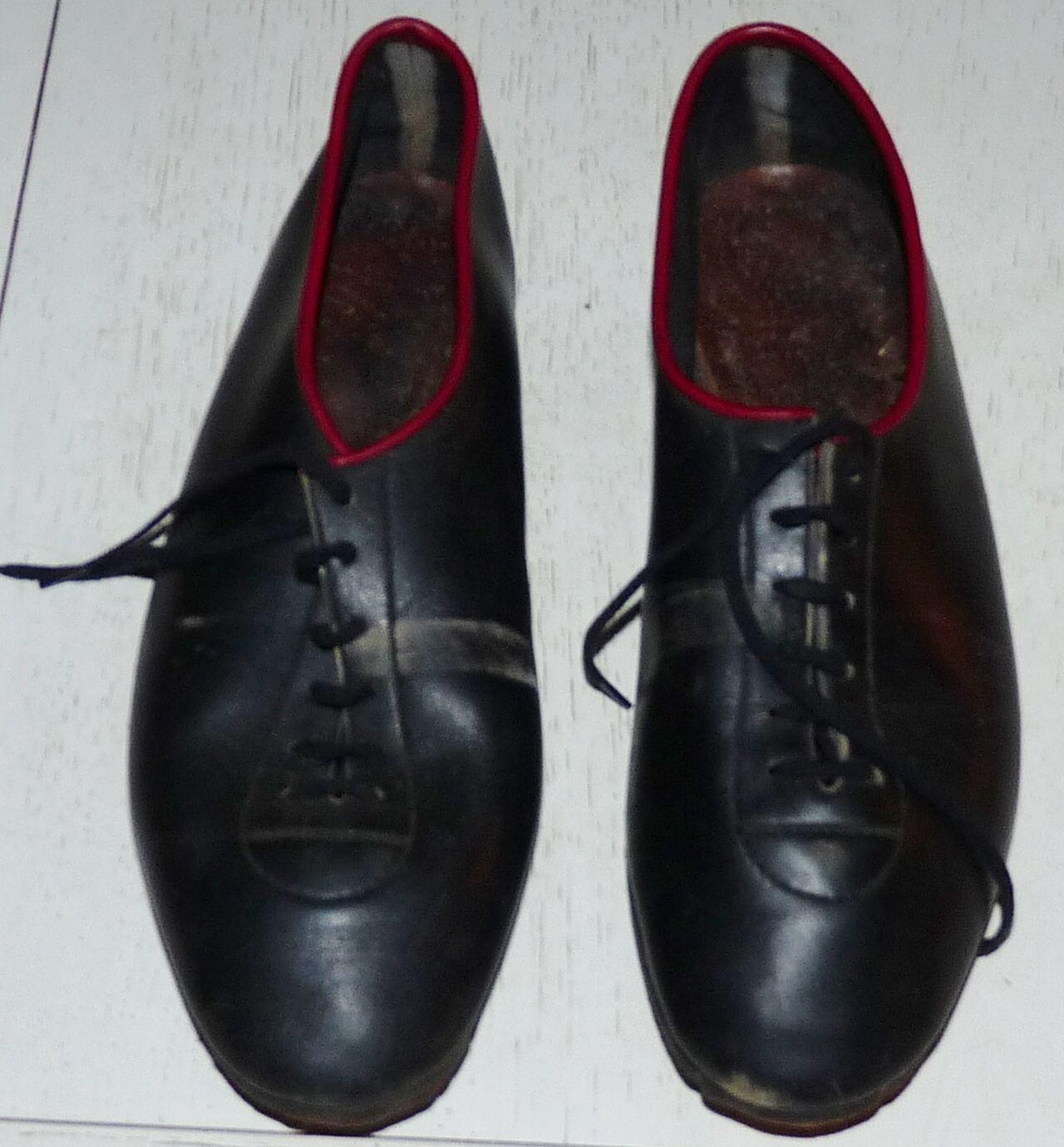 RARE VINTAGE shoes CYCLISME CICLISMO 1960 60's AVEC CALE-PIEDS CRITERIUM