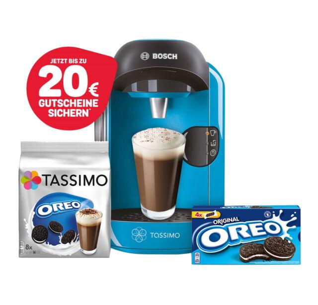 Bosch TASSIMO VIVY + 20 EUR Gutschein* + Oreo TDisc + Kekse Heißgetränkemaschine