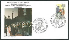 1984 VATICANO VIAGGI DEL PAPA VARESE - RM3