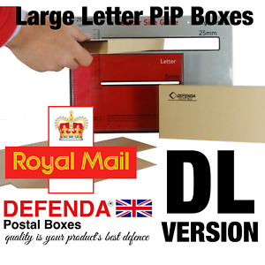 60 DL tamaño QP Royal Mail letra grande cajas de sobres de cartón fuerte postal PIP