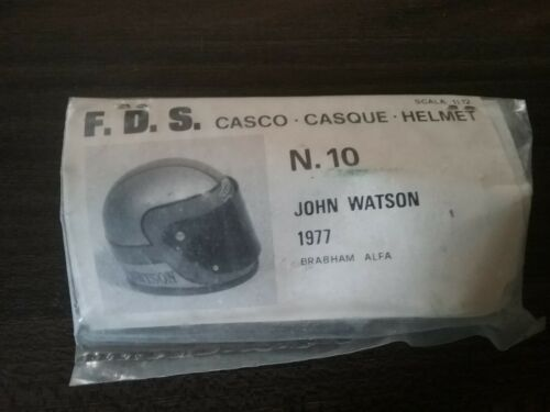 FDS Tamiya 1:12 piloto de carreras casco nr 10 jphn Watson