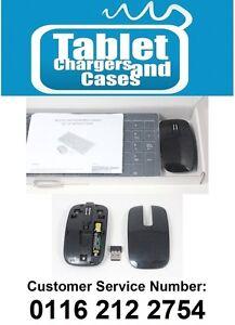 2.4Ghz Noir Clavier sans fil + Num Pad et souris Set pour LG 47LA640V Smart TV-afficher le titre d`origine VF7KwbAU-09121201-187618688
