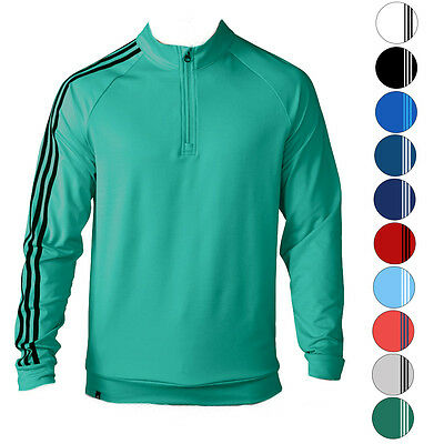 Adidas Golf 3 Stripes 1/4 Zip Pullover TM4252S6 2016 Mens CLOSEOUT New