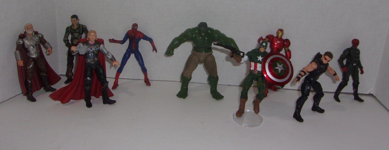 Captain america, hulk marvel ironman rot skull avengers loki action - figur viel