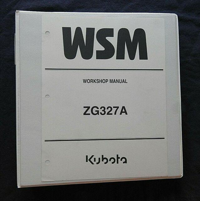 GENUINE KUBOTA ZG327A 327 ZERO-TURN MOWER SERVICE REPAIR