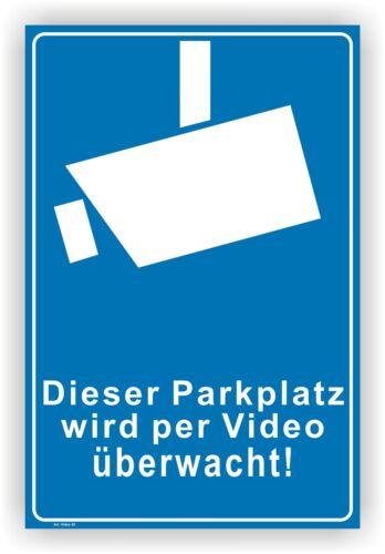 Schild,Aufkleber,Parkplatz,videoüberwachung,videoüberwacht,video,Hinweis Vi52