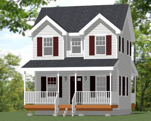 20x16 Tiny House -- PDF Floor Plan -- 616 sq ft -- Model 10
