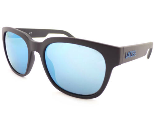 Blue Flash Mirror L830 001 LACOSTE Designer Sunglasses Matte Black
