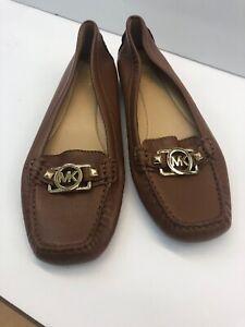 MICHAEL-Michael-Kors-Women-039-s-Brown-Leather-Flats-Women-039-s-SZ-8-M-Shoes-Loafer