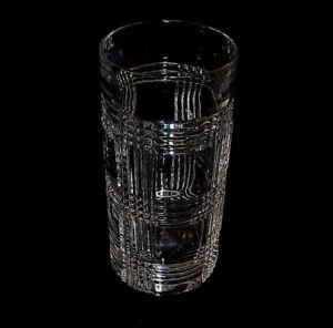 Ralph-Lauren-Glen-Plaid-HighBall-Tumbler-Cut-Crystal-Glass-Etched-Signed