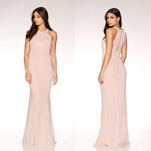 d9f42980e8641 Image is loading New-QUIZ-Nude-amp-Pink-Chiffon-Sweetheart-Embellished-