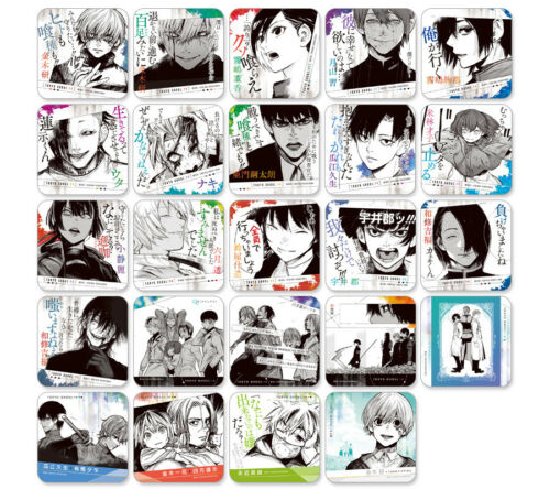 Tokyo ghoul RE Art Coaster vol.2 Touka Urie Juzo UTA UI Shu Ayato Naki Mutsuki
