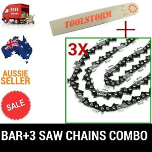 10-034-Bar-amp-3-Chainsaw-Chain-Fit-OZITO-RYOBI-POULAN-TANAKA-40-3-8-LP-043-MICRO