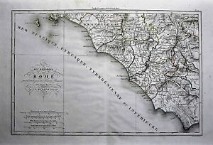 1825-From-Rollin-Atlas-Original-Geographical-Map-LES-ENVIRONS-DE-ROME-ROMA