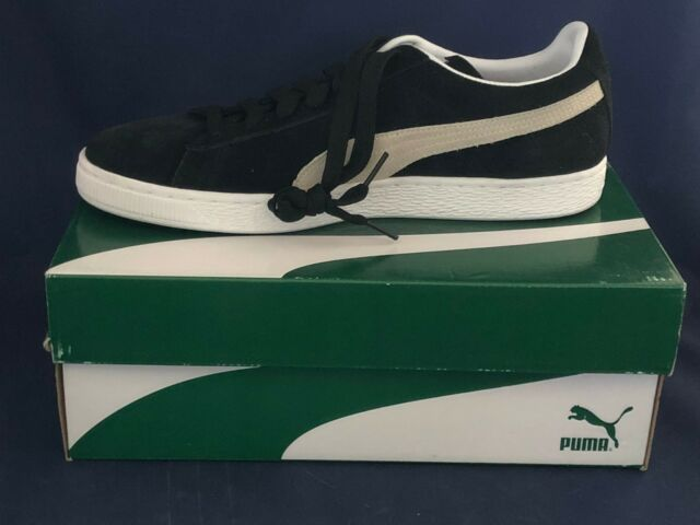 28c46fe152c PUMA Suede Classic Mens Size 9 Black Suede SNEAKERS Shoes 1014 for ...