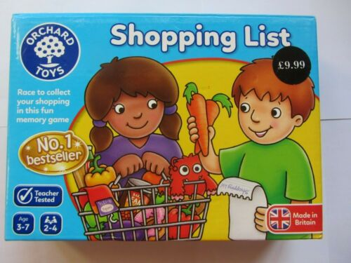 Baskets Trolleys REPLACEMENT PARTS 2016 SHOPPING LIST Game Orchard Toys Spare