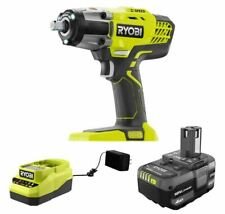 Ryobi P261k1 18v One 12 In Cordless Impact Wrench With Charger And 4ah Battery