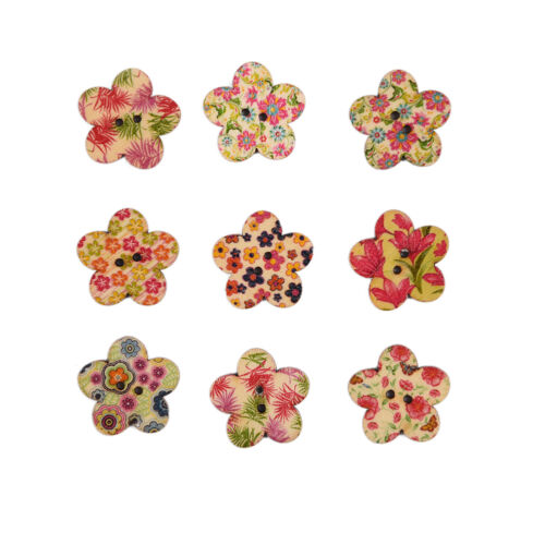 20//50//100pcs Flatbacks Scrapbooking Craft DIY Buttons Sewing Wood Buttons