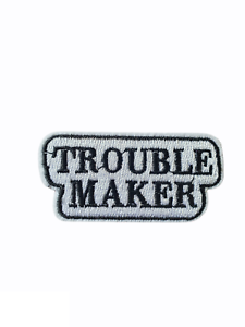 Trouble Maker Words Iron On patch Sew On transfer logo Badge - Brand New