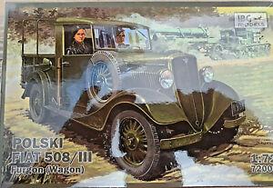 Polski-Fiat-508-III-Furgon-Wagon-WWII-IBG-Models-Kits-1-72-72009