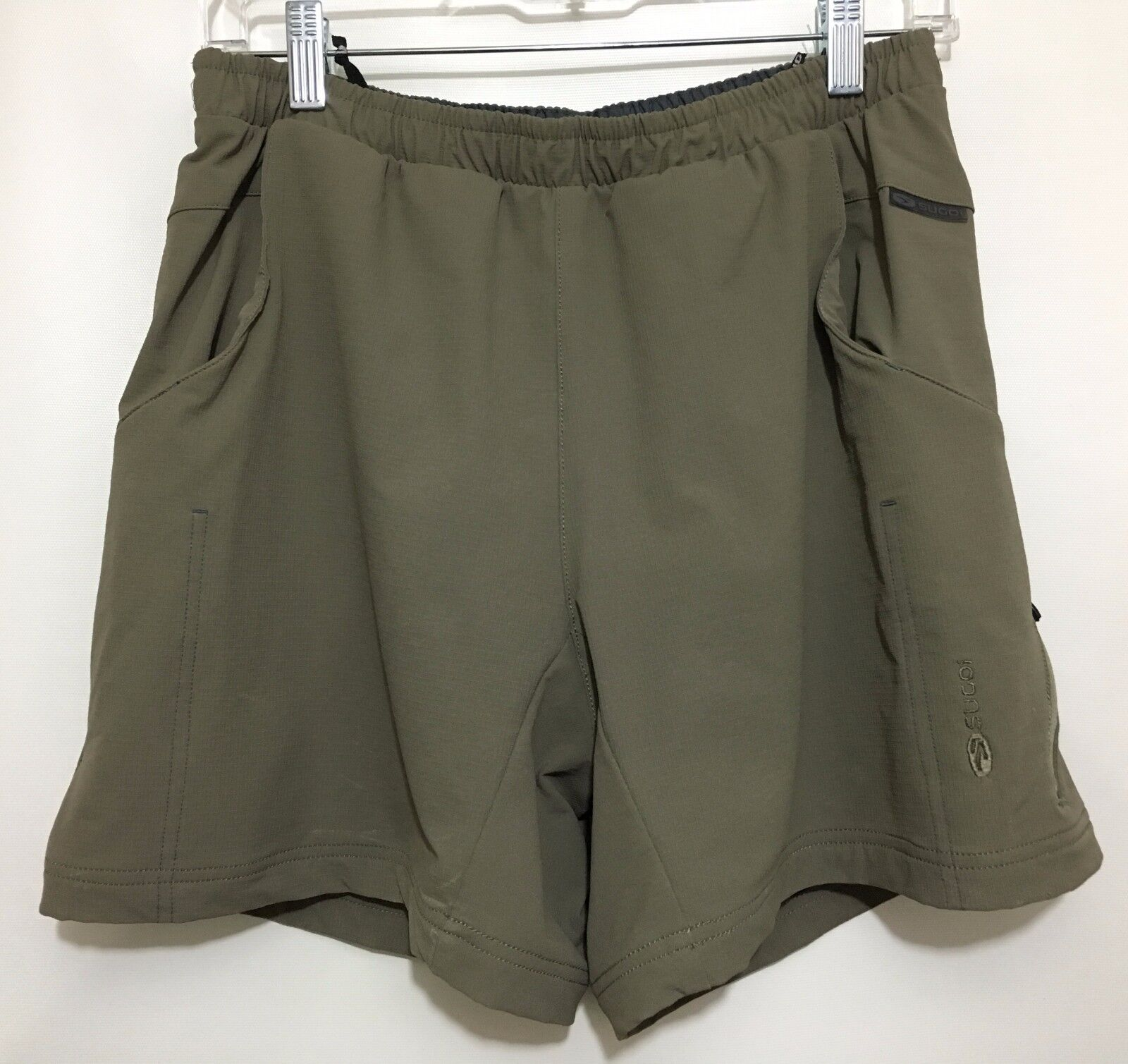 Sugoi Womens M Olive Green Padded Bike Shorts Cycling
