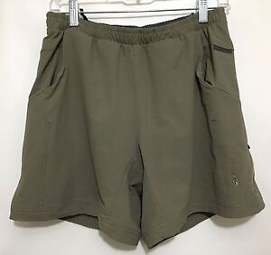 Image is loading Sugoi-Womens-M-Olive-Green-Padded-Bike-Shorts- 2d22a05b2