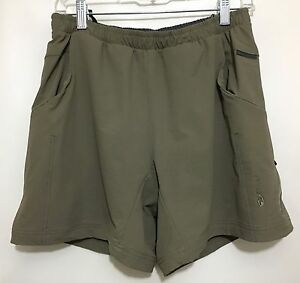 f2d3588c4 Image is loading Sugoi-Womens-M-Olive-Green-Padded-Bike-Shorts-