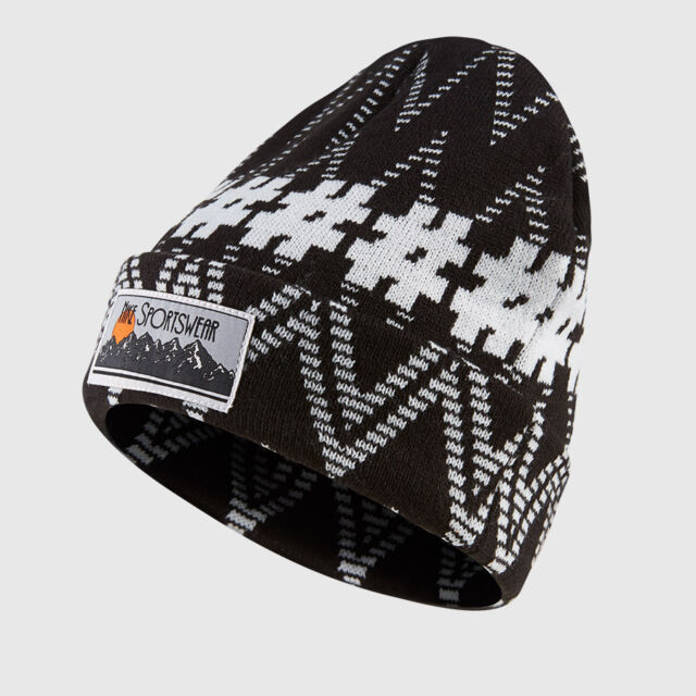 Nike Sportswear Beanie Hat Winter Cap Black and White Retails for 32 ... 25f8f247d018