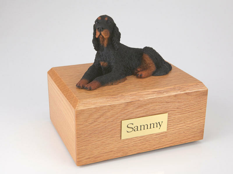 Gordon Setter Pet Funeral Cremation Urn Available in 3 Diff Colors & 4 Sizes
