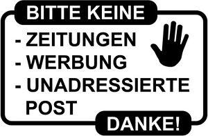 Unerwunschte Werbung Reklame Und Gratis Zeitungen Im Briefkasten