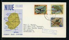 Niue Scott #139-141 FIRST DAY COVER FLOWN Birds FAUNA $$