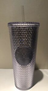 Starbucks-2019-Studded-Holiday-Tumbler-Bling-Platinum-Venti-Cold-Cup-NWT