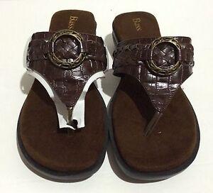 799503966e01 GH Bass Womens Trina Brown Sandals Size 8.5M. Upper Man Made ...