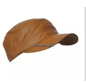 Image is loading MENS-CAMEL-CASTRO-classic-IVY-Gatsby-REAL-LAMBSKIN- ca6828ac2bf9