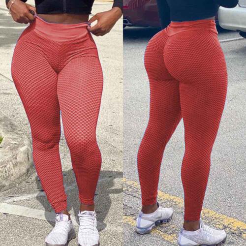 Women Anti-Cellulite Yoga Pants High Waist Scrunch Leggings Gym Elastic Trousers