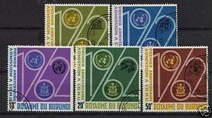 Burundi-1963-Anniv-Of-Admission-to-UNO-Used-Set