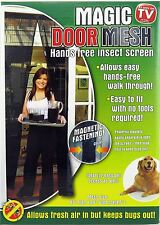 Magnetic Magic Door Mesh - Hands Free Insect Screen - Anti Fly Mosquito Bug