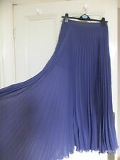STUNNING ASOS PLEATED PURPLE CHIFFON LONG TALL MAXI SKIRT UK 10 BNWT