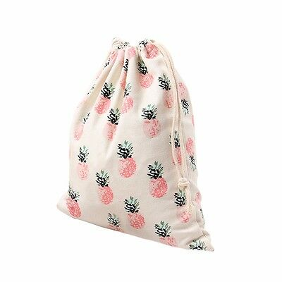 Fashion Women Drawstring Bag Pineapple Print Beam Port Storage Bag Travel Bags