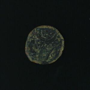 Ancient Copper Coin Judea Hasmonean Kings Alexander Jannaeus 10376 AE Prutah